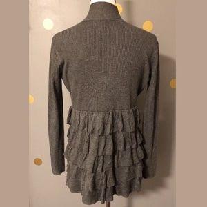 Escio Anthropologie Sz S Ruffled Sweater cardigan